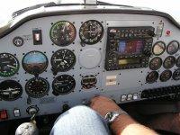 Panel de control del avión