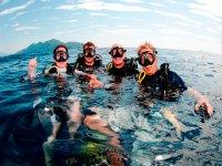 Clases de submarinismo en el Mediterráneo