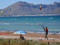 Control del kite en tierra en Mallorca