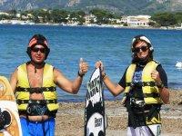 Equipados para aprender kite en Mallorca