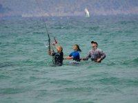 Sesion de kite en Mallorca