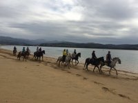A caballo por la playa de Laredo