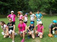 Alumnos de ingles en el campamento de Aisa