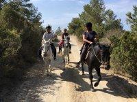 Por el camino ibicenco a caballo
