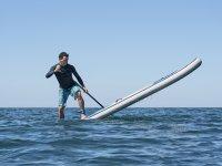 Navegando por Benicassim en un paddle surf