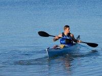 Navegando a bordo de un kayak por Benicassim
