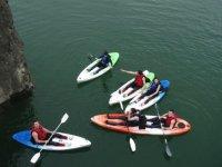 Viendo los kayaks desde arriba