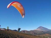 Despegue junto al Teide en Izaña