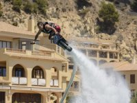 On top of a flyboard