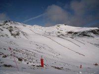 una pista perfecta para esquiar