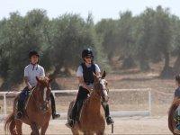 Practicando con los caballos