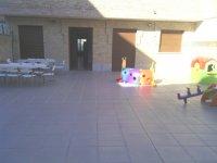 un patio exterior