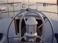 ponte al timon del barco
