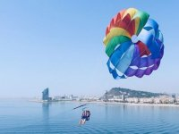 Parasailing flight in Barcelona