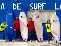 Amigos surfistas