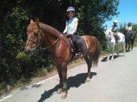 Paseando a caballo por Deva