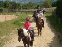 Equestrian departure from Deva