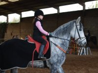 Student of the class of horse riding in Deva