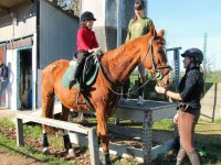 Peque sobre el caballo en Deva