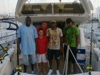 jugadores del rigal barça pescan con el venezia