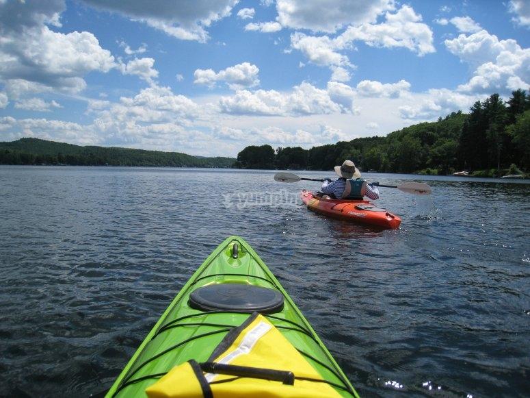 Using the kayak