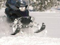 Moto de Nieve en acción
