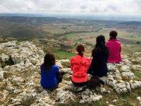 Contemplando el pueblo de Amaya