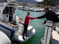 Salida desde el puerto de Denia