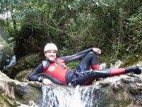 Participant in the La Hermida gorge