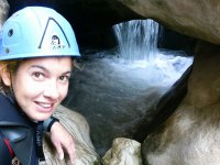 Interior waterfall in the ravine of Aragon