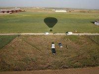 Planeando en un vuelo en globo