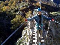 Bridge in the ferrata in Asturias