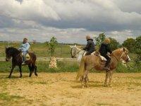 con los caballos de La Gila