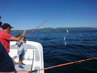 Ensenando al peque a pescar