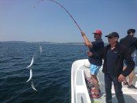 Junto al instructor recogiendo la pesca