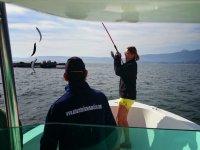 salida de iniciacion a la pesca
