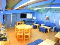 Sala del centro de buceo