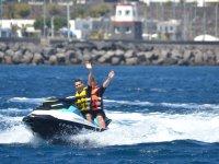Tour guidato in moto d'acqua intorno a Teguise