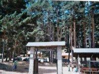 Entrada al campamento Valdeascas.