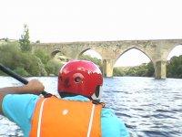 old bridge from canoe