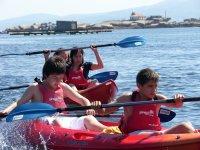 On board the canoe