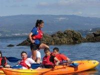 Canoes in Cortegada Island