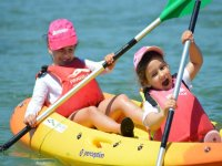 Little to board the canoe