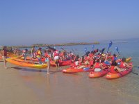 canoes in the sand