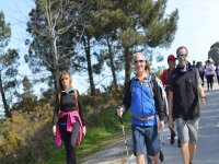 Hikers on route