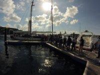 在港口帆船挖贝研讨会