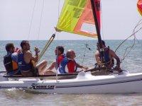 Practicing sailing