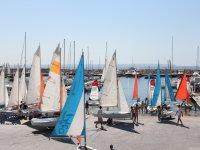 港口和帆船学生