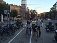 En el carril bici