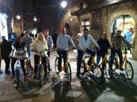 Utilizando bicis urbanas